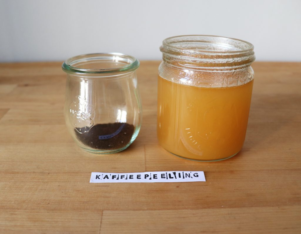 Zutaten Kaffee-Peeling