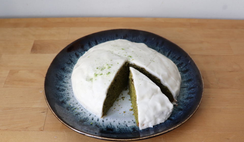 Veganen Matcha Kuchen backen