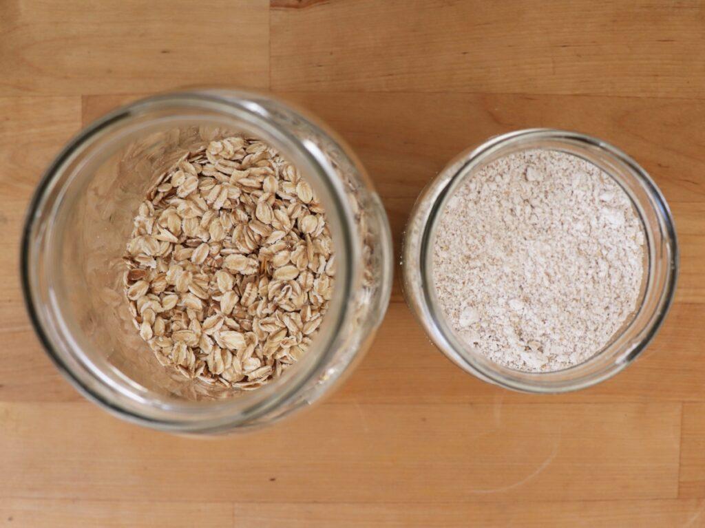 Haferflocken zu Mehl mixen